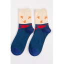 Men's Color Block Printed Ankle Sox Cotton Socks