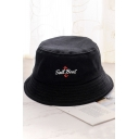 SAIL BOAT Letter Embroidered Bucket Hat