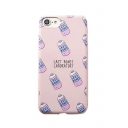 Letter Drink Printed Mobile Phone Case for iPhone