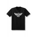 Eagle Printed Round Neck Short Sleeve Tee