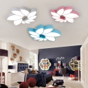 Acrylic Flush Light with Petal Modern Design LED Ceiling Light for Children Kids Bedroom