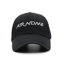 AIR HOME Letter Embroidered Unisex Baseball Hat