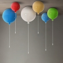Contemporary Ceiling Light Cartoon Multicolor Balloon Kid's Bedroom Lighting, Red/White/Blue/Green/Yellow