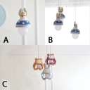 Gypsum Cartoon Cat/Rabbit Suspended Lamp Animals&Insects Baby Children Room 1/3 Light Lighting Fixture