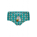 Women's Lovely Cartoon Cat Printed Underwear Panty