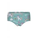 Unicorn Letter Printed Skinny Women's Underwear Panty
