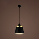 Industrial Nordical 9.5''W Pendant Light with Metal Shade in Black