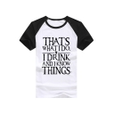 Color Block Raglan Short Sleeve THAT'S Letter Printed Round Neck Short Sleeve Tee