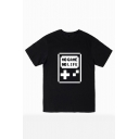 NO GAME NO LIFE Letter Printed Round Neck Short Sleeve Graphic Tee