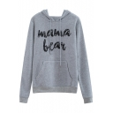MAMA Letter Printed Long Sleeve Leisure Hoodie