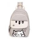 Lovely Cat Letter Printed Backpack School Bag