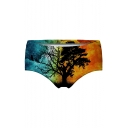 3D Tree Printed Skinny Women's Underwear Panty