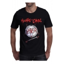 HAUNTING CHAPEL Letter Graphic Printed Round Neck Short Sleeve Tee