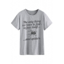 THE ONLY THING Letter Spider Printed Round Neck Short Sleeve Tee