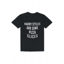 HARRY STYLES Letter Printed Round Neck Short Sleeve Tee