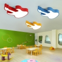 Lovely Guitar LED Ceiling Light Nursing Room Kindergarten Blue/Yellow/Red Acrylic Flush Mount