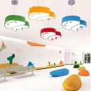 Cartoon Style Octopus Pendant Light Nursing Room Acrylic Decorative LED Drop Ceiling Lighting