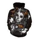 3D Butterfly Girl Printed Long Sleeve Leisure Hoodie