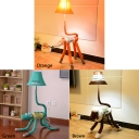 Adjustable Bell Floor Light Children Fabric Shade 1 Light Floor Lamp with Fox/Lion/Crocodile