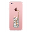 Drink Cat Printed Mobile Phone Case for iPhone