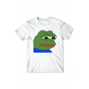 Upset Frog Printed Round Neck Short Sleeve Tee