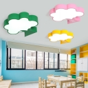 Game Room Tree Shape Flushmount Stylish Modern Acrylic LED Flush Ceiling Light in Green/Pink/Yellow