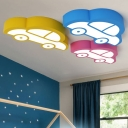 Transportation LED Flush Mount Trains&Cars Bedroom Kindergarten Acrylic Single Head Ceiling Fixture