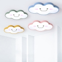 Lovely Cloud LED Flush Light Simple Modern Game Room Nursing Room Acrylic Ceiling Fixture