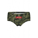 Sexy Letter Camouflage Printed Women's Underwear Panty