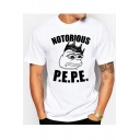 NOTORIOUS Letter Frog Printed Round Neck Short Sleeve Tee