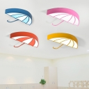 Lovely Umbrella LED Flush Mount Modern Colorful Acrylic Lighting Fixture for Nursing Room