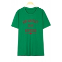 RON WEASLEY Letter Printed Round Neck Short Sleeve Tee