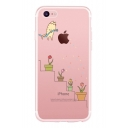 Cat Plants Printed Mobile Phone Case for iPhone