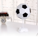 Plastic Football Shape Table Lamp Boys Bedroom Amusement Park LED Table Lighting in White