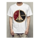 CCCP Letter Rocket Printed Round Neck Short Sleeve Tee