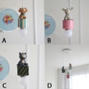Lovely Cat/Lion/Rabbit Hanging Light Baby Kids Room Plastic 1/3 Head Decorative Pendant Light