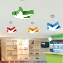 Bird 1 Head LED Hanging Light Blue/Green/Orange/Red Acrylic Ceiling Pendant Lamp for Children Bedroom