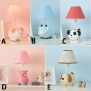Coolie 1 Light Reading Light with Cute Animal Resin Base Baby Kids Room White Finish Table Lamp