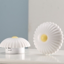 White Daisy Battery and Chargeable Kids Bed Night Light with Warm/Cool Light