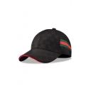Bow Printed Contrast Striped Braid Baseball Hat
