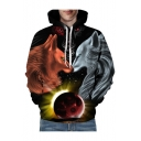 Wolves Planet Printed Long Sleeve Oversize Hoodie