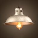 Black/Silver/Green/Red Finish 1 Light LED Hanging Pendant Light in Industrial Style for Warehouse Restaurant