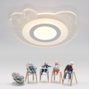 Lovely Cat Shape 20.48 Inch Girls Bedroom LED Flush Ceiling Light