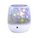 Plastic Drum Shade Night Light Projectors with/without Rotating Function for Children Bedroom