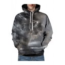 3D Lightening Character Printed Long Sleeve Unisex Hoodie