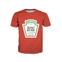 KING KUSH Letter Graphic Printed Round Neck Short Sleeve Tee