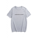 DISAPPOINTED Letter Printed Round Neck Short Sleeve Tee