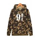 9 3/4 Number Camouflage Printed Long Sleeve Hoodie