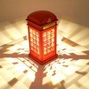 Nordic Style Plastic Phone Booth LED Projector Night Light for Kids Room