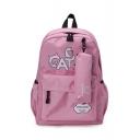 CAT Letter Printed Stylish Backpack School Bag